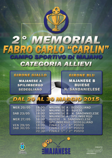 "2° Memorial Fabro Carlo ""Carlin"" (dal 20 al 30 maggio 2015)"