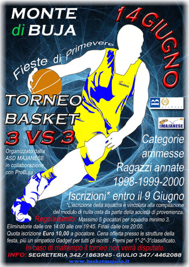 Torneo Basket 3vs3 Monte di Buja (14 giugno 2015)