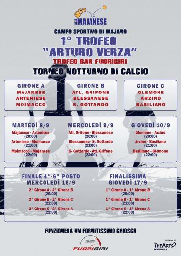 """1° Trofeo """"Arturo Verza"""" – Torneo notturno di calcio (dall'8 al 17 settembre 2015)"""