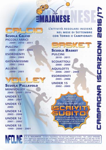 Pre-Iscrizioni Stagione Sportiva 2016/17